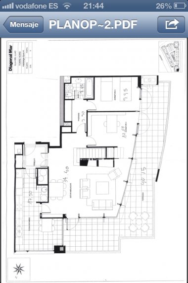 Ático duplex en alquiler en edificio emblemático de Barcelona